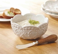 Mud Pie Knot & Beau Dip Bowl Set