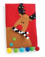 Mud Pie Reindeer Linen Tea Towel
