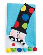 Mud Pie Snowman Linen Tea Towel