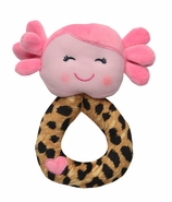 Snuggle Buddy Plush Doll Rattle with Turn And See Mirror