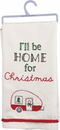 Primitives by Kathy Dish Towel - I'll be Home for Christmas