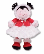 Snuggle Buddy Plush Baby Doll - Red and White Dress