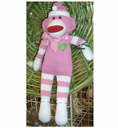 Sock Monkey Doll - Addie 18""