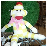 Sock Monkey Doll - Daffy Dil 12""