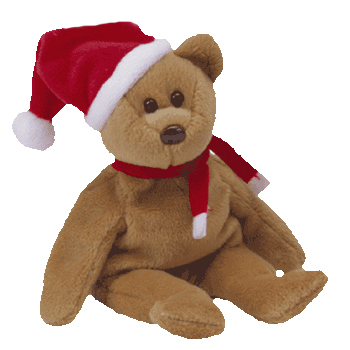 Ty Beanie Babies 1997 Holiday Teddy Bear Hearts Desire Gifts