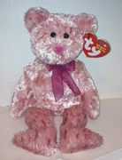 TY Beanie Babies Smitten Bear - Pink Nose Version