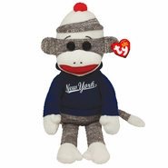 TY Beanie Babies Sock Monkey - New York
