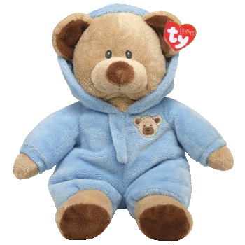 TY Pluffies PJ Bear - Blue | Hearts Desire Gifts