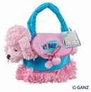 Webkinz Pink Poodle with Pet Carrier