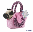 Webkinz Pug Dog with Pet Carrier