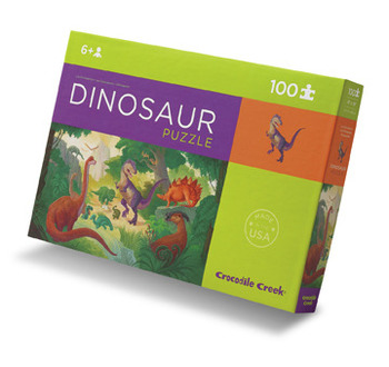 Crocodile Creek <br>100 Piece Puzzle <br>Dinosaur