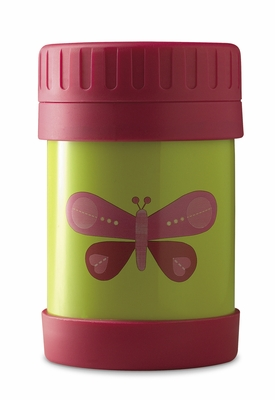 Crocodile Creek <br>Insulated Food Jar <br>Pink Butterfly