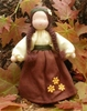 "Evi Doll <br>Autumn Girl <br>5.5"" Waldorf Doll"