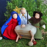 "Evi Doll <br>Holy Family <br>6"" Waldorf Dolls"