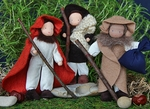 "Evi Dolls <br>Three Shepherds <br>6""  Waldorf Dolls"