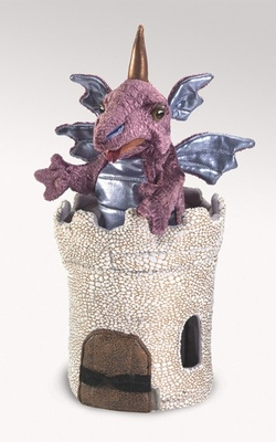 Folkmanis Puppet <br>Dragon in Turret