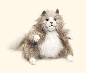 Folkmanis Puppet<br>Fluffy Cat
