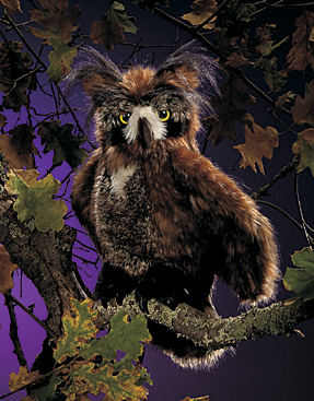 Folkmanis Puppet <br>Great Horned Owl