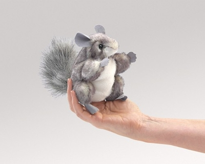 Folkmanis Finger Puppet <br>Mini Chinchilla