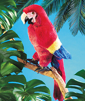Folkmanis Puppet <br>Scarlet Macaw