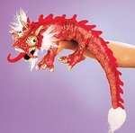 Folkmanis Puppet <br>Small Red Dragon