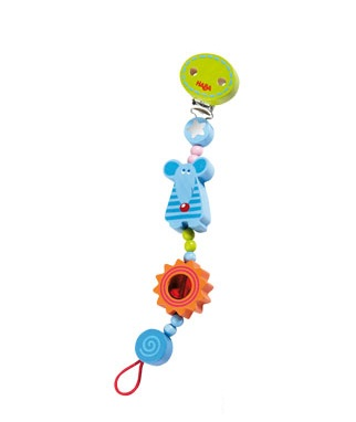 HABA Baby <br>Lollipop Mouse <br>Pacifier Chain