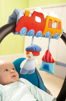 HABA Carry Cot Mobile <br>Chuff Chuff