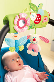 HABA Carrycot Mobile <br>Flower Friends