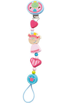 HABA Pacifier Chain <br>Heart Princess