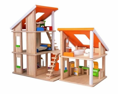 Plan Toys <br>Chalet Dollhouse <br>with Furniture