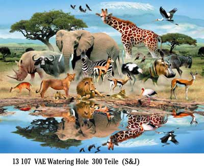 Ravensburger 300 Piece <br>Watering Hole