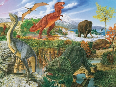 Ravensburger 300 Piece <br>World of the Dinosaur