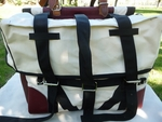 Canvas Pack Panniers - Leather Ends