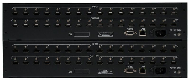 WolfPack™ 16x32 TRUE HDMI Matrix Router - Front Panel Manual Control