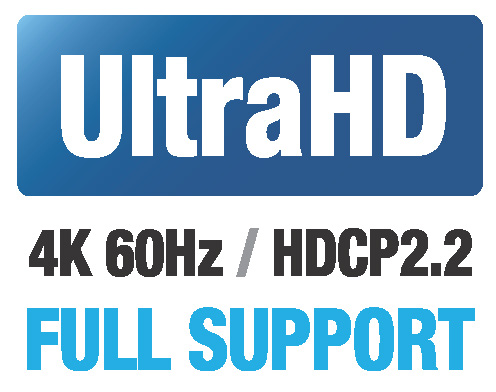 4K WolfPack 4x4 HDBaseT Matrix Switch over CAT5 - 4K@60Hz with HDCP 2.2 & HDMI 2.0