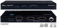 4K UHD Key Digital 1x2 HDMI Distribution Amplifier with HDCP 2.2