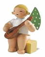 Small Sitting Angel Playing Mandoline (New in 2013) - Wendt & K�hn