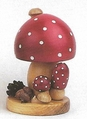 Colorful Mushroom Handcrafted by an Artist from the Erzgebirge Germany