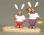 Easter Bunny Couple Candle Holder (1 Tealight) - Knuth Neuber