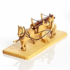 Horse Pulling Log Wagon - Heiko Morgenstern