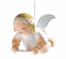 Suspended Angel Holding Sheet Of Music Ornament (New in 2013) - Wendt & K�hn
