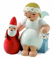 Marguerite Angel Sitting With Santa Claus (New in 2014) - Wendt & K�hn