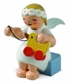 Sitting Marguerite Angel With Toy Duck (New 2014) - Wendt & K�hn