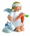 Marguerite Angel With Bunny And Carrots - Wendt & Kuhn