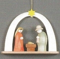 Nativity Under Arch Handcrafted In The Erzgebirge Germany