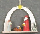 Santa And Child Under Arch Handcrafted by An Artist From Germany
