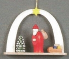 Santa Arch With Tree And Sled Handcrafted In Germany
