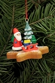 Santa On Gingerbread Star Cookie Tree Ornament - Christian Ulbricht GmbH & Co