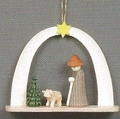 Shepherd And Little Lamb Under Arch Handcrafted In Germany