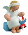 Snowflake Angel Holding Jumping Jack (New in 2011) - Wendt & K�hn